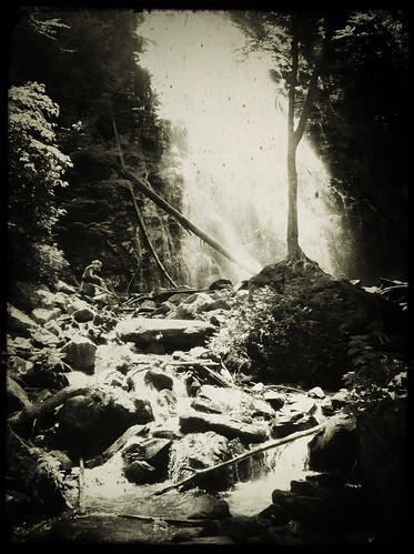 landscape blackwhite waterfall northcarolina tadaa blueridgeparkway iphone solace crabtreefalls lonefigure iphonography