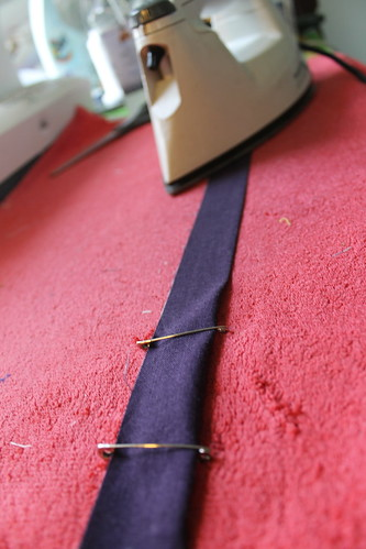 Binding trick - fold it by running it through two safety pins