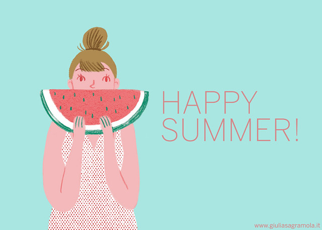 happy summer! watermelon