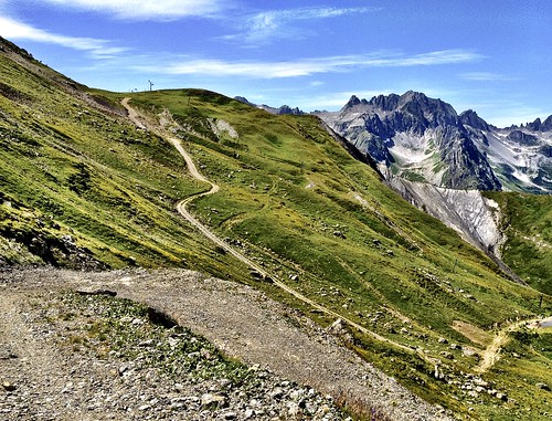 Steep final stretch to Col de Riondet