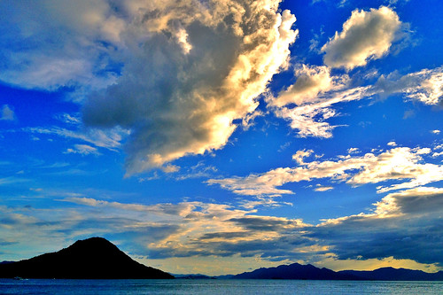 sunset sea cloud landscape island 雲 海 iphone 夕焼け 島 iphoneography