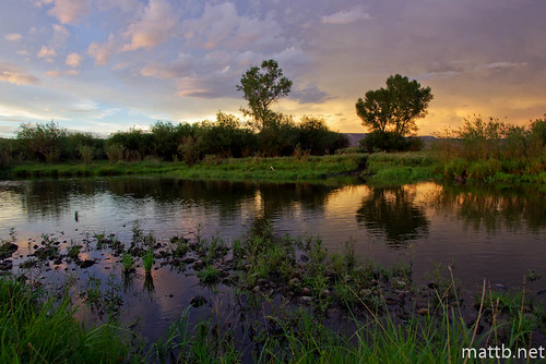 light sunset sky reflection water clouds evening colorado gunnison