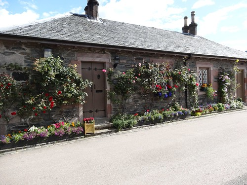 Luss cottage with climbing roses