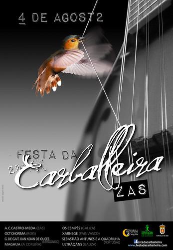 Zas 2012 - Festa da Carballeira - cartel
