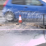 Burst water pipe - TUnstall high street