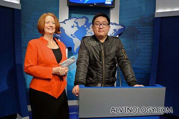 Me with Julia Eileen Gillard,  the 27th and current Prime Minister of Australia, in office since 24 June 2010