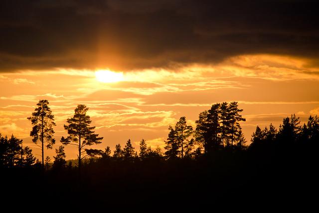 Solen mellan