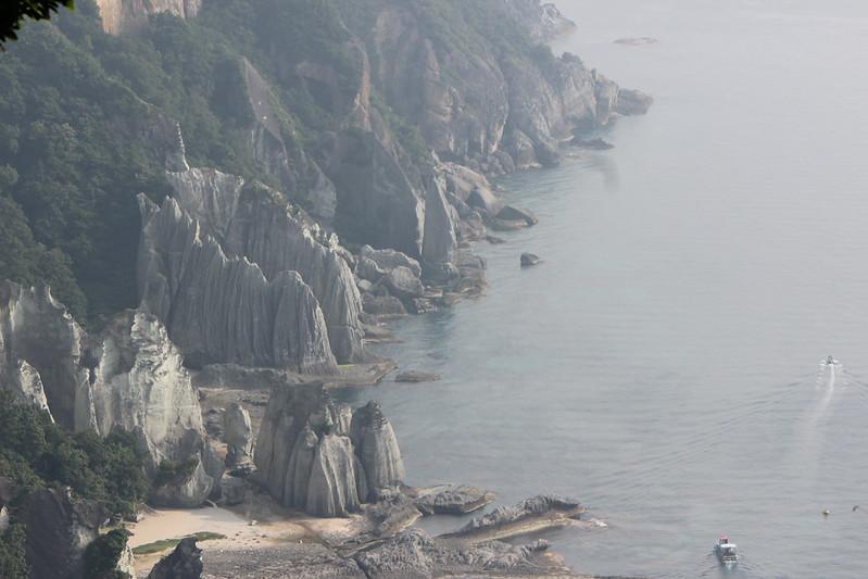 仏ヶ浦近くの海岸線