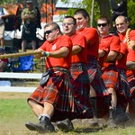 The Essex and Kent Scottish Regiment, pulls off against other Regiments during the Glengarry Highland Games