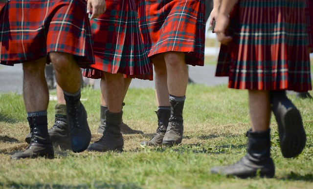 Combat boots and kilts @ the Glengarry Highland Games