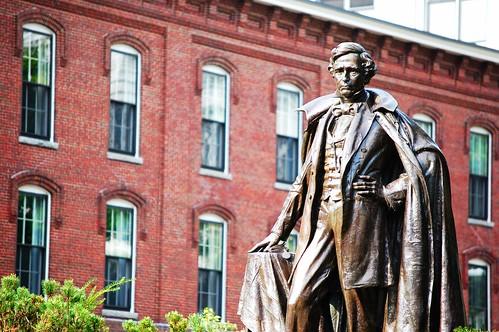 Pierce's statue