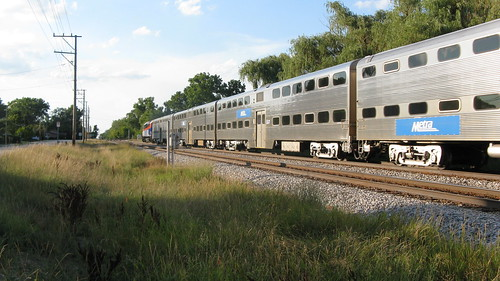 Northbound Metra evening commuter train.  Morton Grove Illinois.  Tuesday, August 6th, 2012. by Eddie from Chicago
