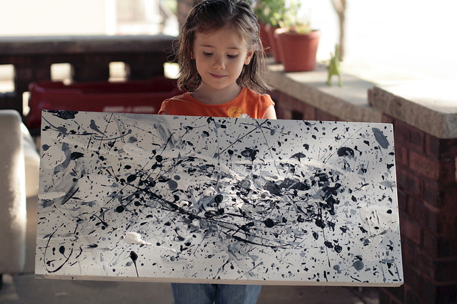 Eliza's Jackson Pollock Inspired Painting