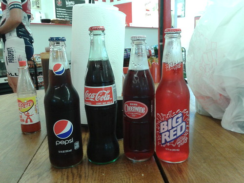 Soda in glass bottles!