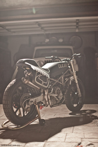 Alex's Ducati Custom project. Venice Beach. 2012.