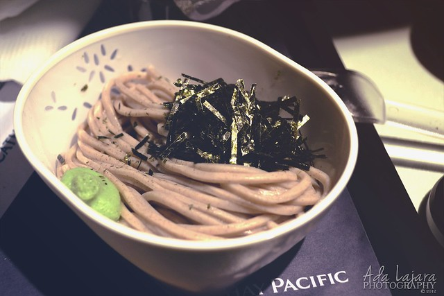 Unknown noodles with nori and wasabi