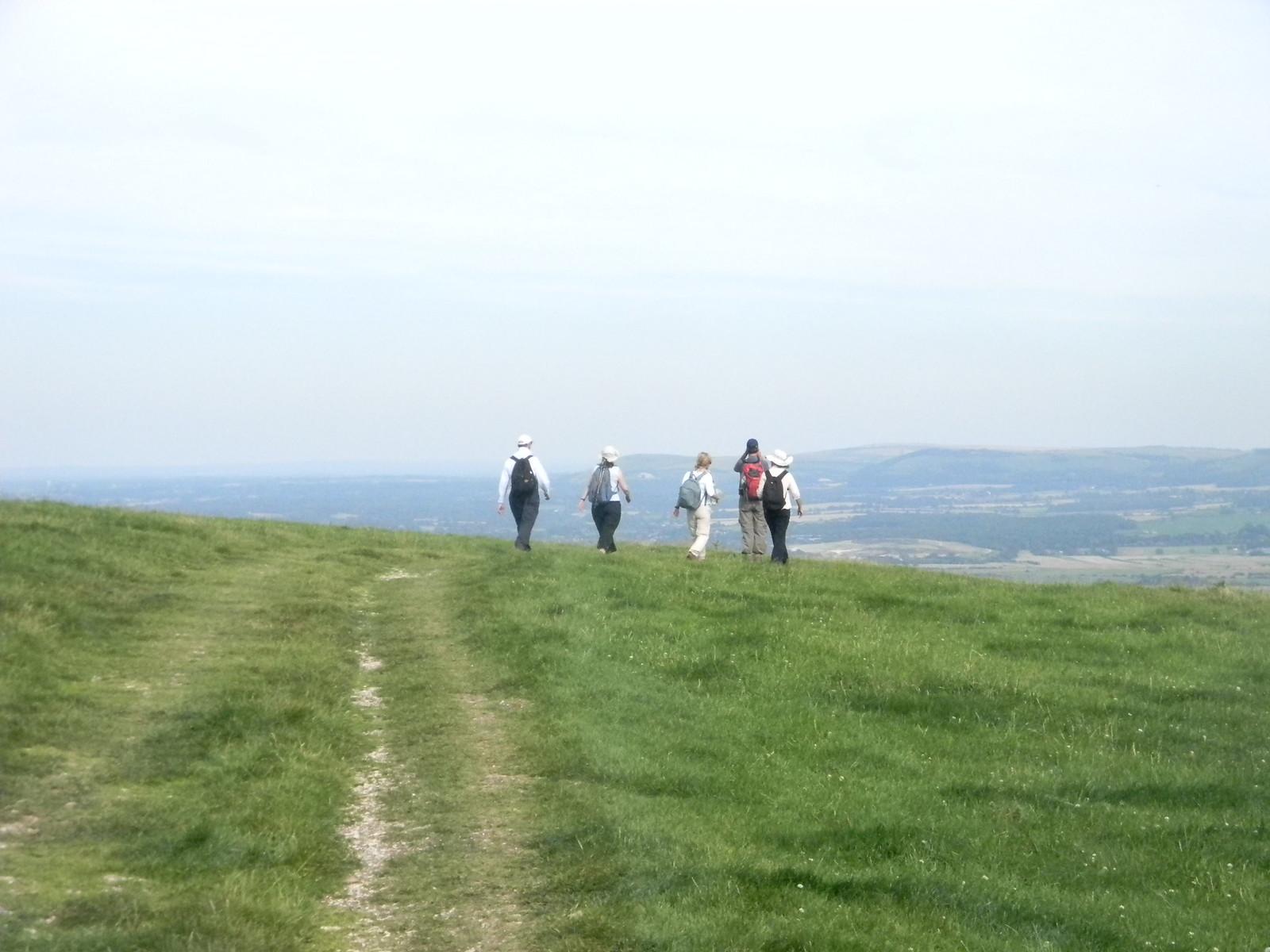 On the escarpment Amberley to Shoreham