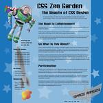 Buzz Lightyear Zen Garden Site