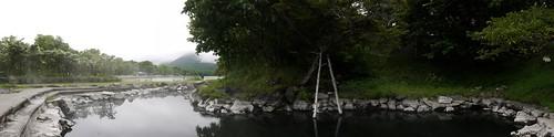 Open-air hotspring bath (Wakoto Peninsula, Lake Kusharo, Hokkaido, Japan)