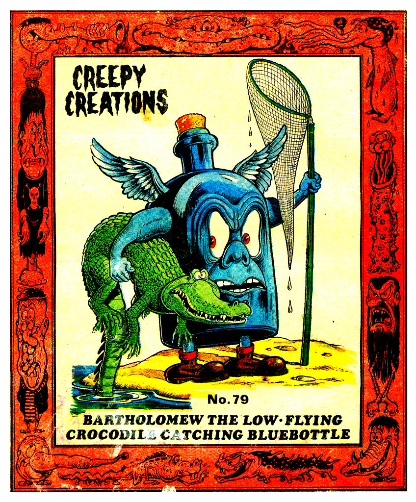 Creepy Creations No.79 - Bartholomew The Low Flying Crocodile Catching Bluebottle