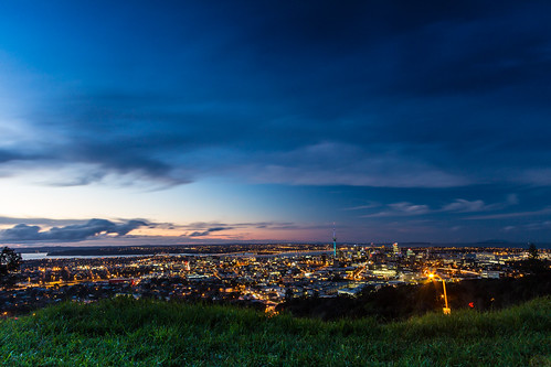 Auckland from Mt Eden by Mikey Mack