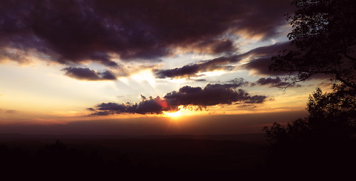 trees sunset red sky panorama sun mountains nature silhouette clouds forest 35mm canon landscape eos purple state pennsylvania f14 pa 7d appalachian photostitch rothrock 35l f14l
