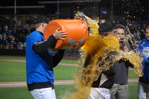 Gatorade bath!
