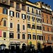 Colourful houses near The Spanish Steps, Rome