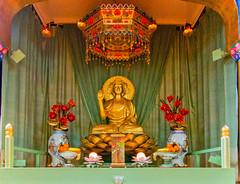 Throssel Hole Buddhist Abbey main shrine room