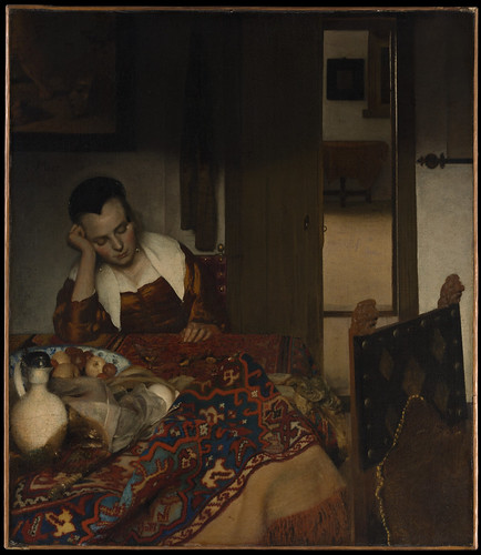 A Maid Asleep, Johannes Vermeer  (Dutch, Delft 1632–1675 Delft) by greta_g