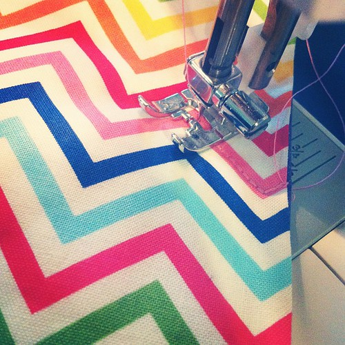 Quilting chevrons for someone special! #mugswap