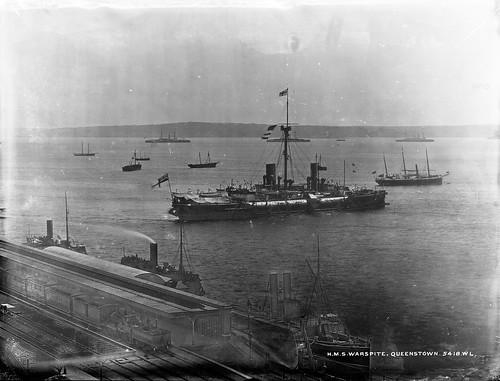 H.M.S. Warspite at Queenstown, now Cobh
