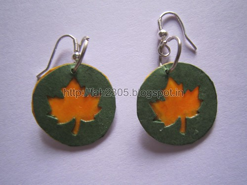 Handmade Jewelry - Paper Punch Disk Earrings (3) by fah2305