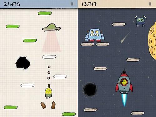 Doodle Jump Update Adds PowerUps and Ninjas