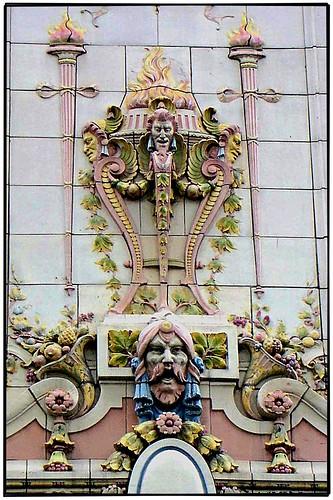New Orleans LA ~ Orpheum Theater ~ Terra Cotta Facade ~ Photo 2003