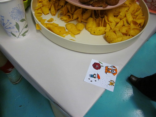 We had button making and snacks!