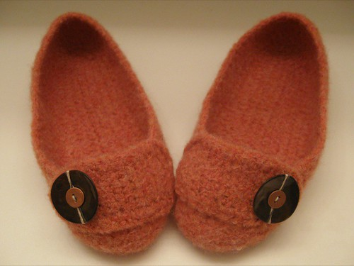 Felted Crochet Slippers 1