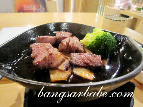 Diced Japanese beef copy
