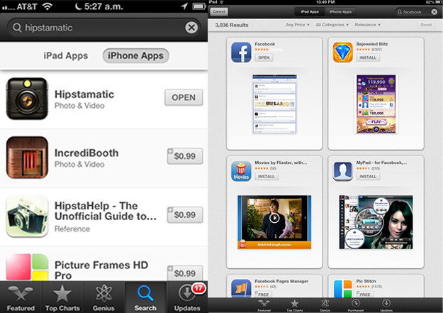 Apple iOS 6 App Store cambios