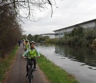 26 Oliver leading the group along the canal