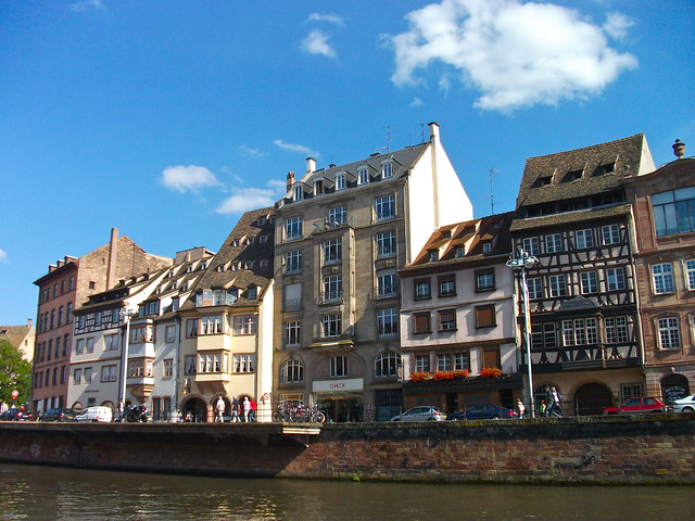 Buildings by the Canal in Strasbourg, France
