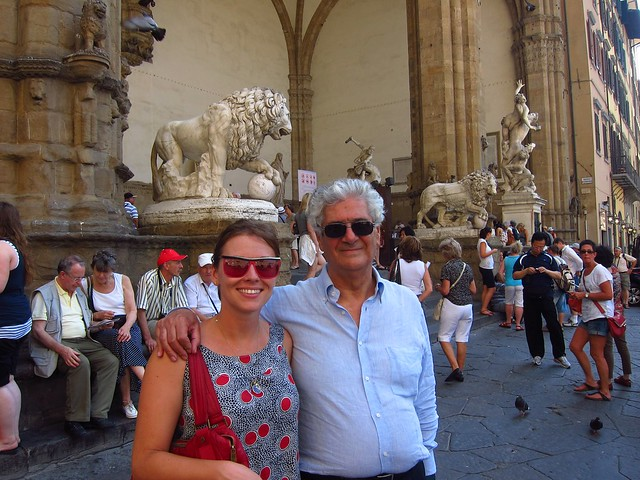 Claudia and Sergio in Front of the Loggia dei Lanzi