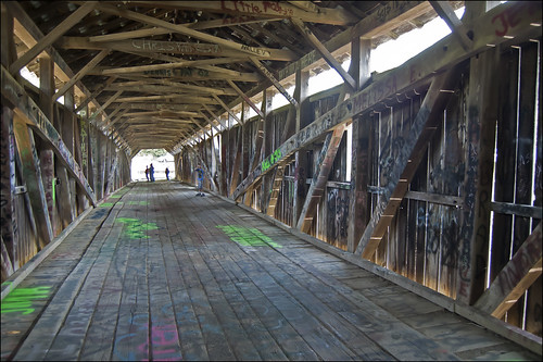Inside the Mt. Zion Covered Bridge