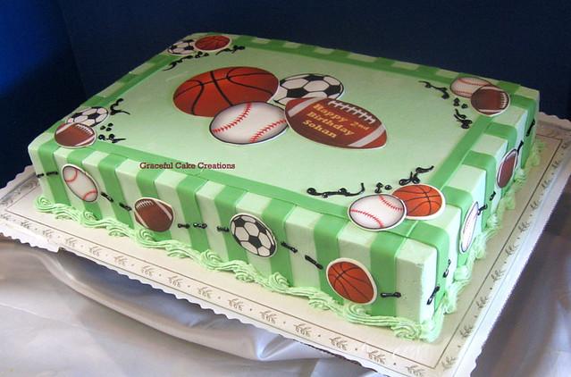 Sports Themed Birthday Cake Flickr Photo Sharing
