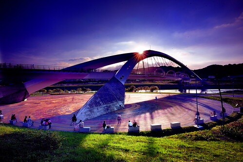 taiwan 日落 陽光橋