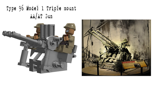 Type 96 Model 1 Triple mount 25mm AA-AT gun