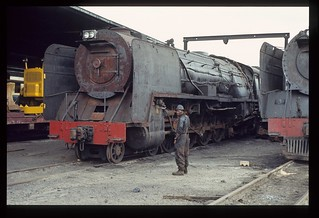 020. 1980-12. Class 15F at Germiston (SA) Depot - South African Railways.
