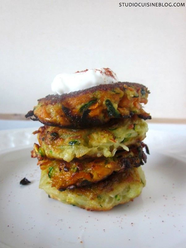 A gluten-free version of Zucchini and Potato Pancakes from the Joy the Baker Cookbook
