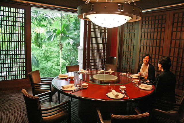 Private dining room at Jiang-Nan Chun