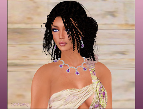 Virtual Impressions Gemma Jewelry in Amethyst & Diamonds by Dyana Serenity